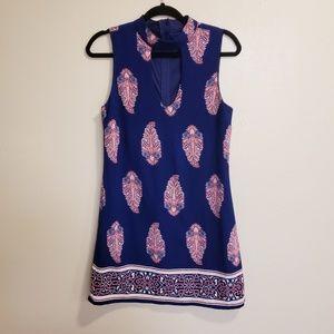 3/$20 Crystal Doll Sleeveless paisley pink dress